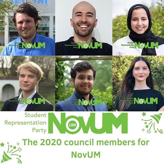 Elected 2020 NovUM Council members